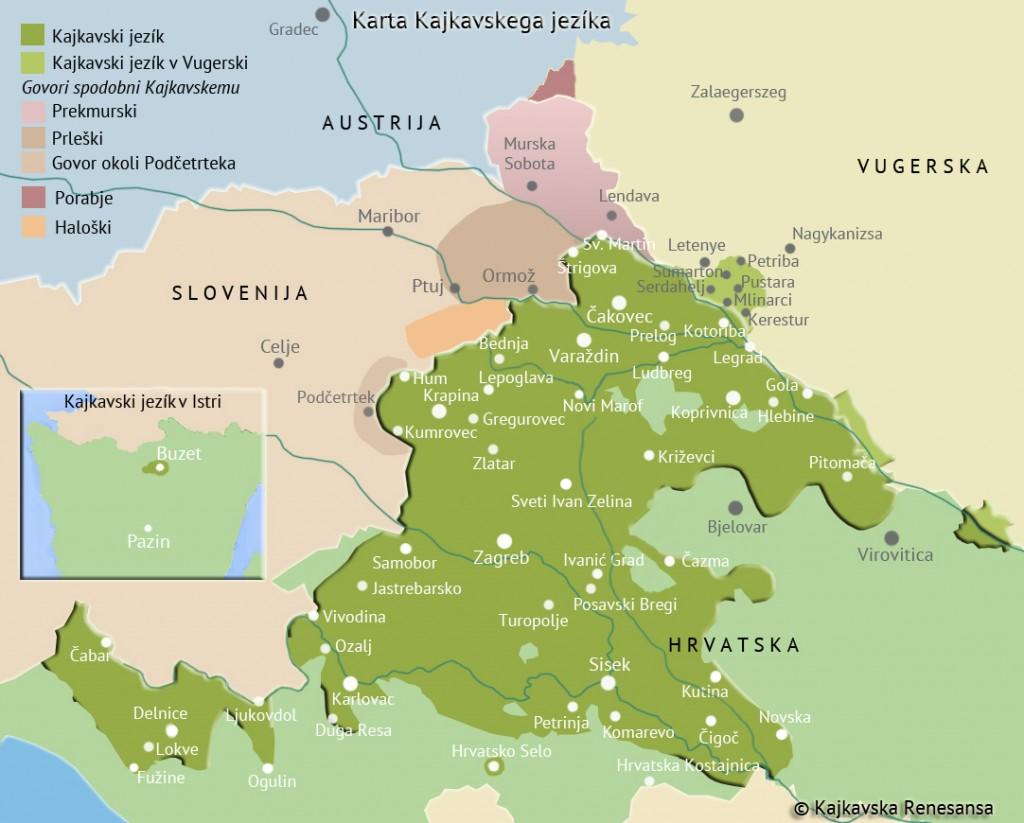 Karta Kajkavskega jezíka
